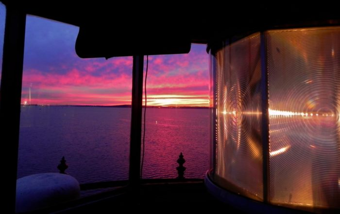 There's no better place to catch a breathtaking sunset than at the very top of the lighthouse.