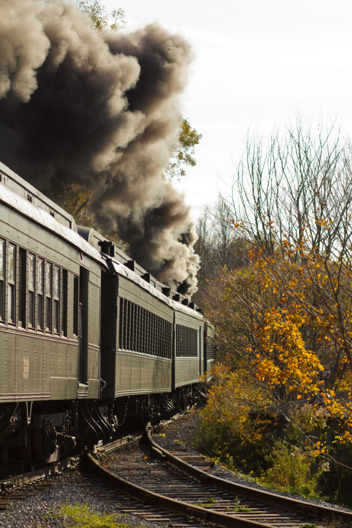 The first Fall Foliage train ride of the year takes place on October 2nd at 1PM!