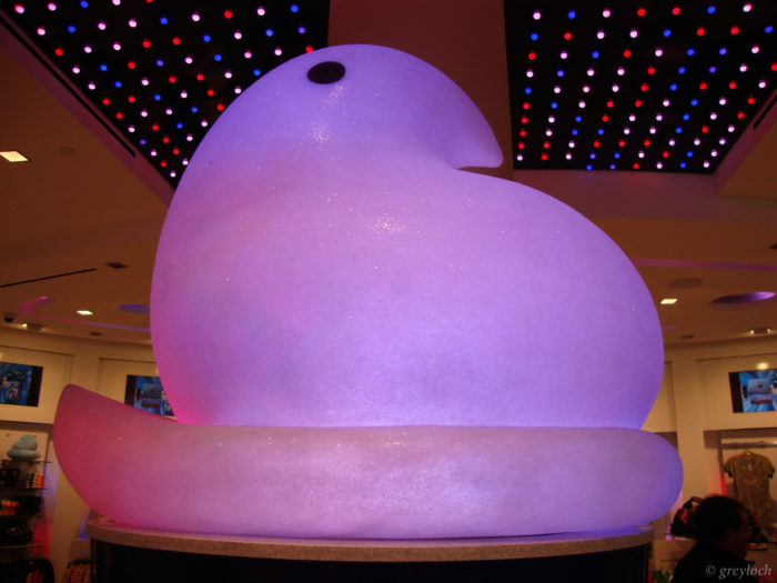 Or just check out the store for the sheer novelty of it all, like this giant glowing Peep.
