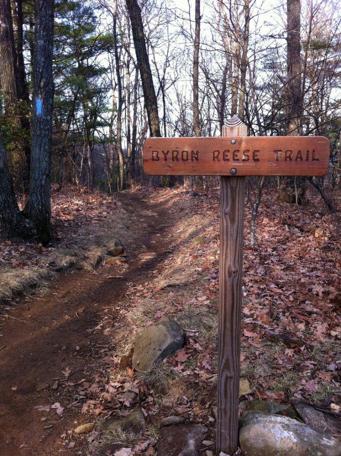 For this particular hike, you'll start at the Byron Reese Memorial trailhead, north of Neels Gap.