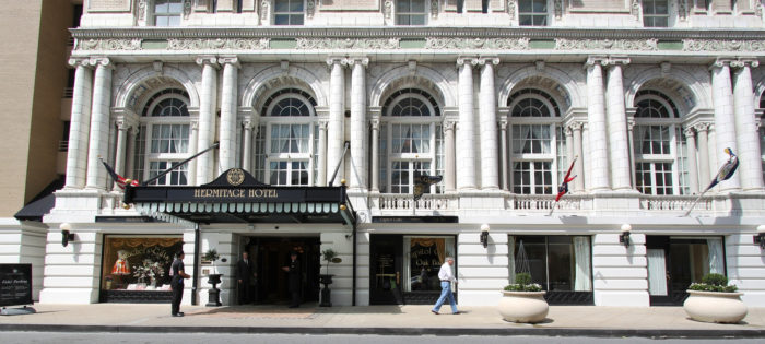 6. The Hermitage Hotel located in downtown is the only Five-Star, Five-Diamond hotel in the city.