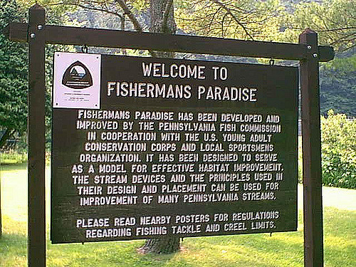 The creek is also a Fishermans Paradise, the name by which most fishermen know it.