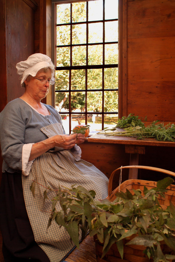 Taste life in old New England in the Cooks' Garden, which is filled with the herbs and vegetables of a typical 18th century kitchen garden.