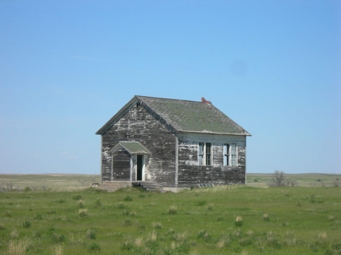 5. Now abandoned, this one room school house is still standing near Eureka, South Dakota.