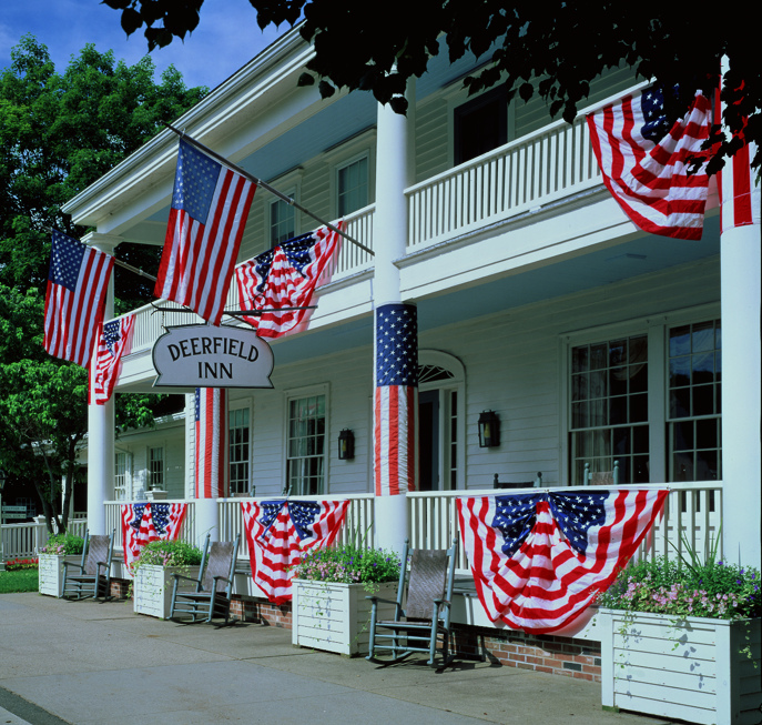 If you can't bring yourself to travel back into the present, stay the night at the historic Deerfield Inn.