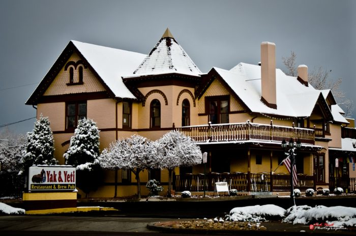 Yak And Yeti is located at 7803 Ralston Road in Arvada. This historic 1874 Victorian home has a long history.