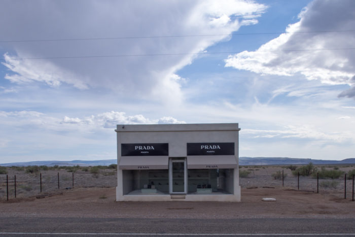 As far as the rest of the town goes, it's as ghostly as can be apart from a few buildings, mostly art pieces like this Prada store replica in the middle of the desert.