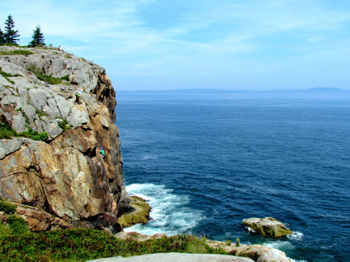 The trail makes its way along the coast, providing beautiful views of the water.