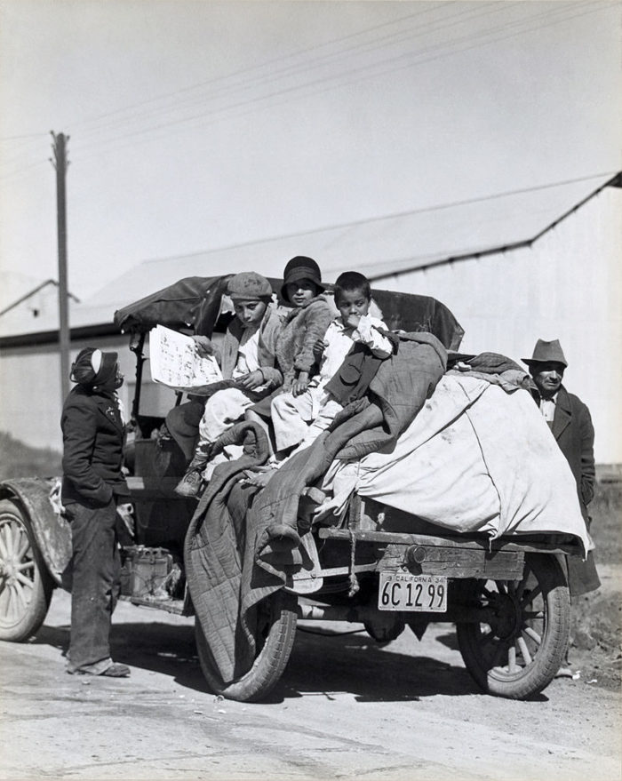 11. A migrant farm family from California in 1935 in search of a rehabilitation camp.