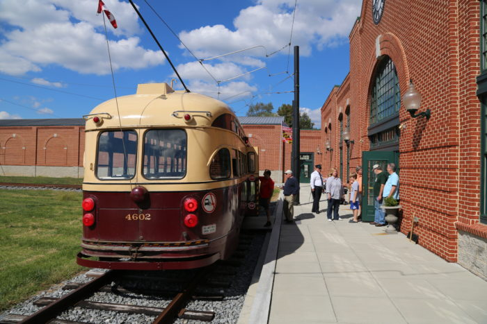 There is also a collection of real vintage streetcars that you can ride around on.
