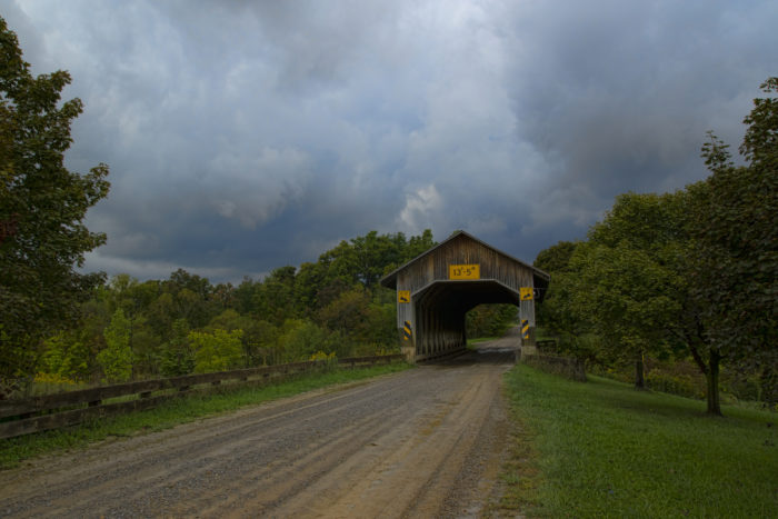 Caine Road Bridge was built in 1986 in honor of Ashtabula County's 175th anniversary.