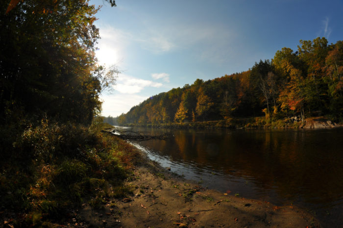 The foliage views at the west branch of the Farmington River are simply stunning.
