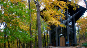 Thorncrown Chapel was constructed in 1980 and was located in Eureka Springs.
