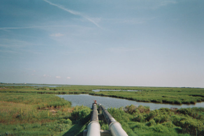 As you travel down this highway, you'll see many marshes and wetlands along the way.