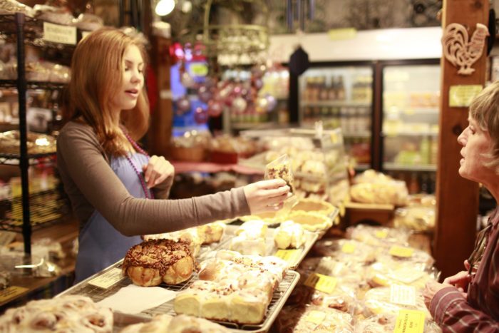 You won't be able to travel far in the store without smelling the mouthwatering aroma of the bakery.