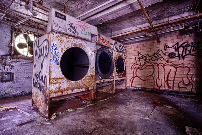 """All that remains in the prison are the colorful graffiti walls and the familiar """"vine that ate the South."""""""