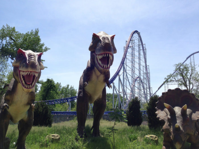 You'll see how these prehistoric creatures would have stood in comparison to the towering roller coasters we have today.