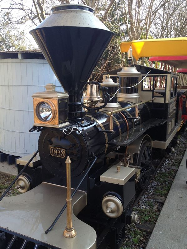 And the newest edition is the black and gold train, which is just in time for Saints season.