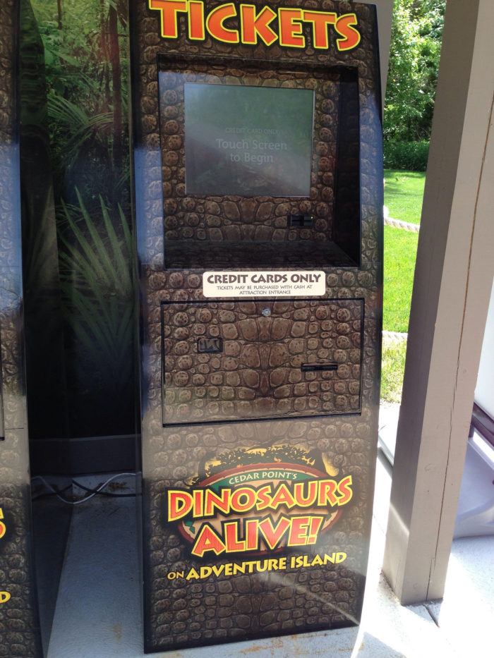 Admission to Dinosaurs Alive varies according to what type of amusement park pass you have. However, it's already included with all K-6 Student Tickets.