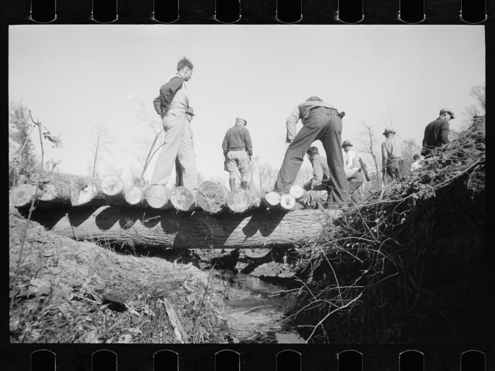 4. These fellows are building a bridge in Prince George's County in 1935.