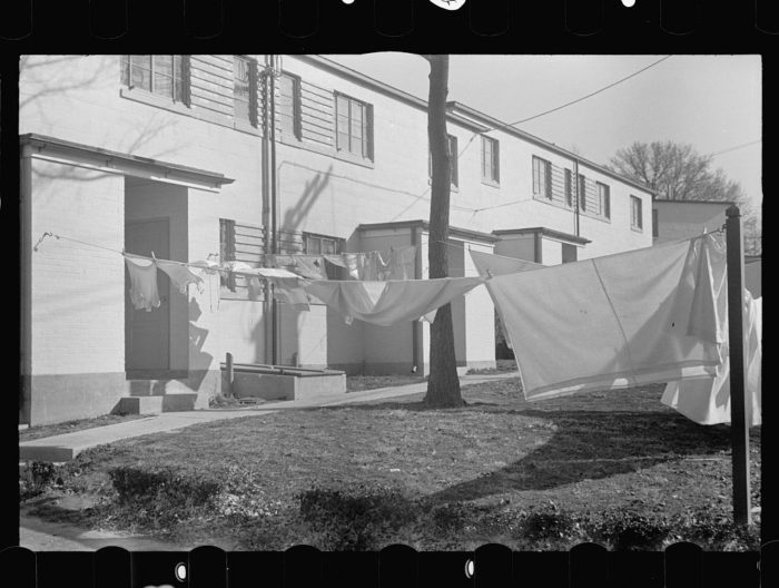 5. Clothes on the line in Greenbelt in 1937.