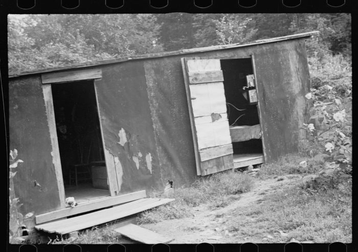 1. A typical cabin during 1935 in Garrett County.