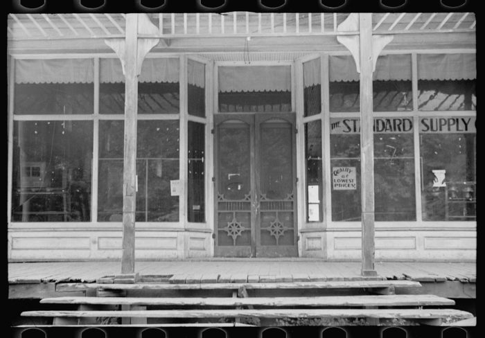 7. An abandoned mining supply store in Western Maryland. Circa 1935.