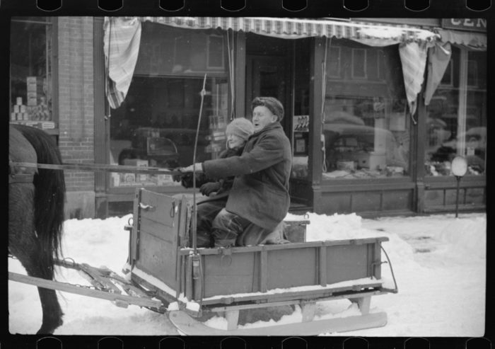 7.  Mr. G.W. Clarke coming to town to sell butter on Saturday. He was seventy-one years old in this photo and was a lifelong resident of Vermont.