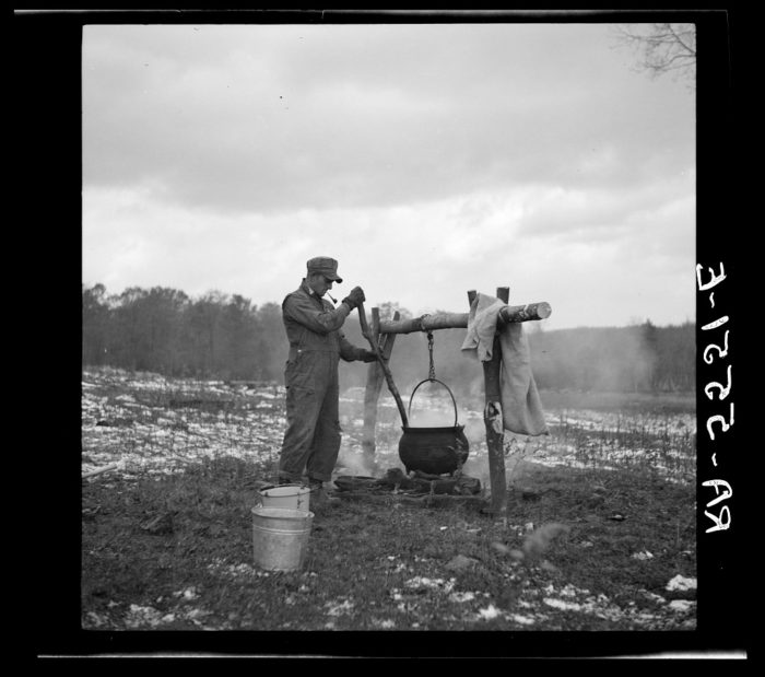 3. A farmer cooks hog soup in Garrett County. Circa 1936.
