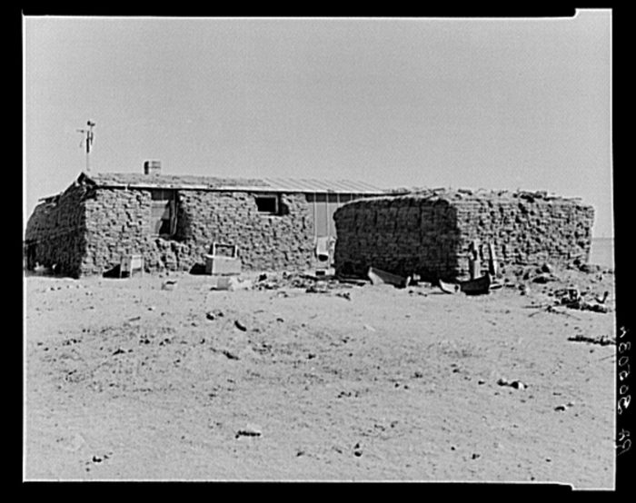 6. Sod houses were a very common type of home that was easier to build for early settlers in a land that was considered mostly treeless.