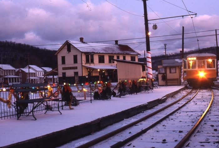 Regular trolley rides may end for the season at the end of October, but fear not. As the snow falls, the trolleys in Rockhill welcome kids of all ages to join the Polar Express, an evening ride aboard a festively decorated trolley.