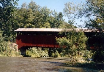 End your journey on the charming  trail at Herline Covered Bridge, Bedford County's longest covered bridge at 136 feet. Erected in 1902, the covered bridge, which is open to vehicles, was restored to its former glory in 1997.