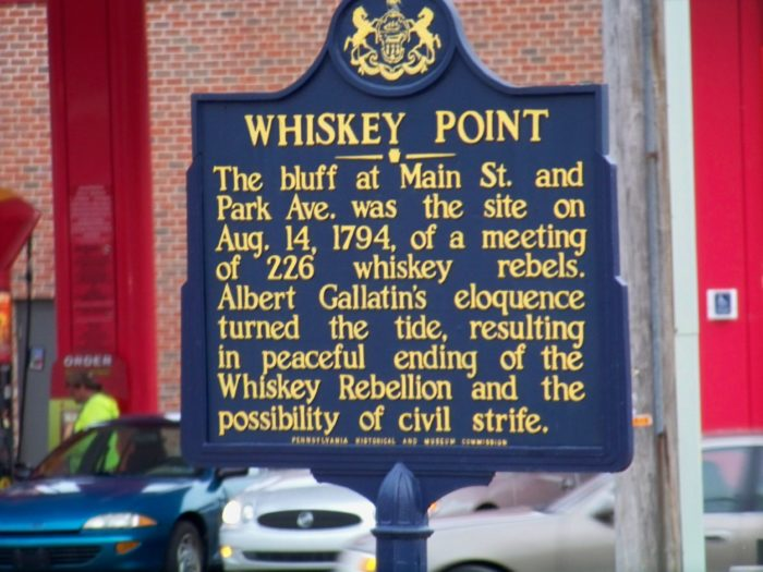 4. In 1791, there was a whiskey rebellion.