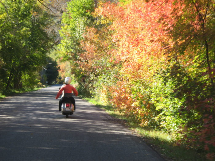 This is the perfect drive to take on your motorcycle this time of year.