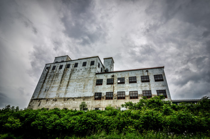 1.  Abandoned Grain Elevator Factory, St. Johnsbury