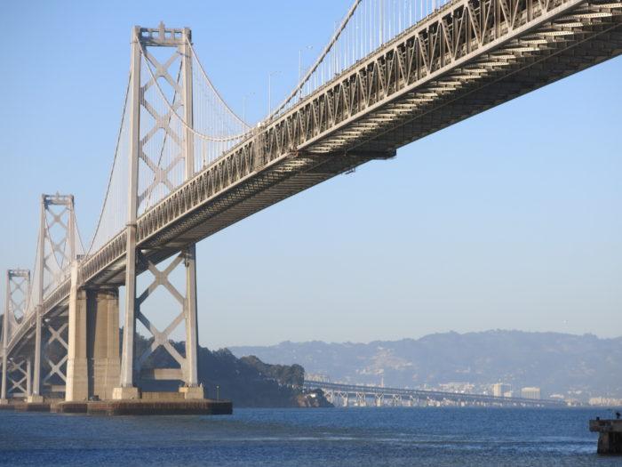 3. Mistaking the Bay Bridge for the Golden Gate Bridge. (The Golden Gate Bridge is the orange one!)