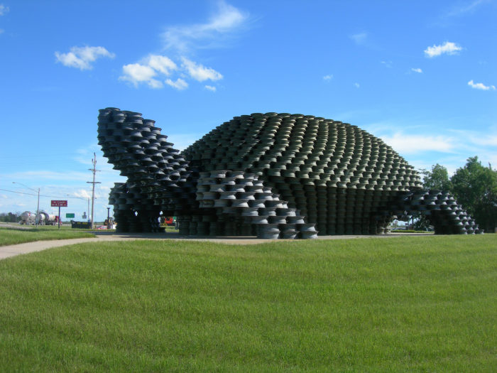 8. The W'eel Turtle in Dunseith, made using 2,000 wheel rims.