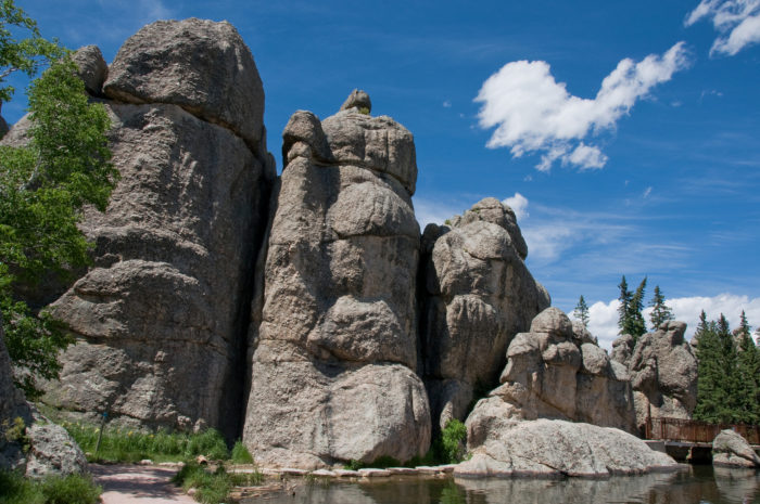 10. Cliffs and rock formations that surround Lake Sylvan