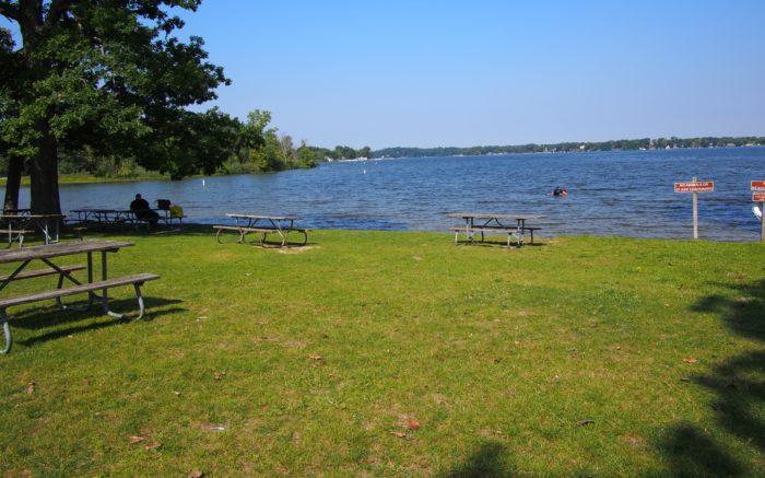 Hayes State Park, Wamplers Lake Beach