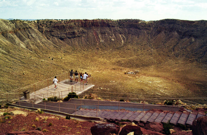 E. Old Visitor Center at Meteor Crater