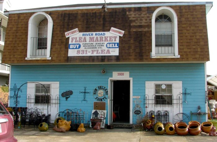 You will find this unique market by traveling down river road towards Metairie.
