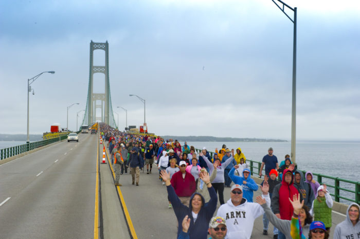 2013 Mackinac Bridge walk and run.