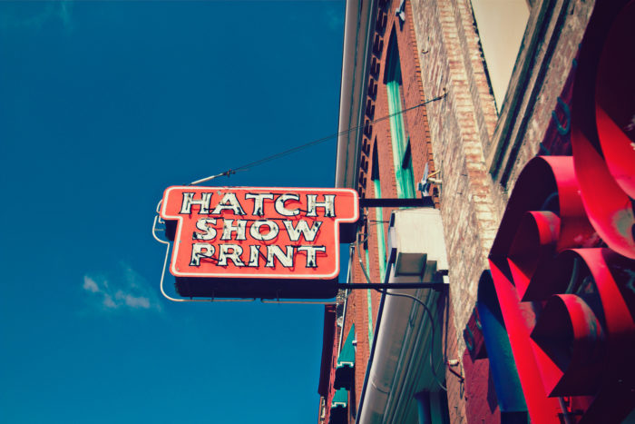 11. Hatch Show Print is renowned worldwide and is one of the oldest letterpress shops in the nation.