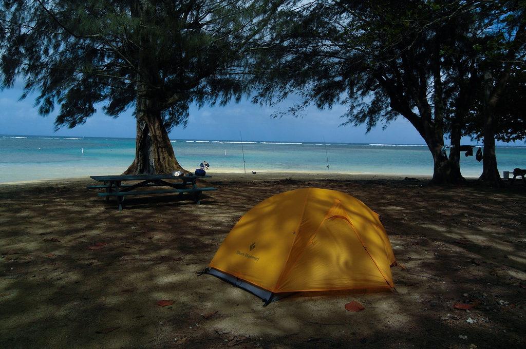 Full hookup beach camping