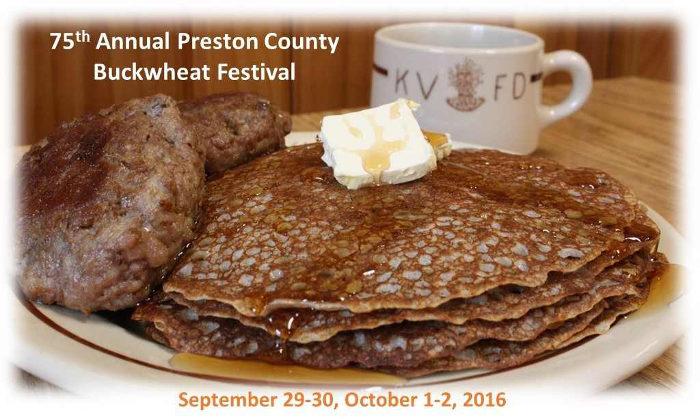 3. The Preston County Buckwheat Festival - September 29-October 2, 2016