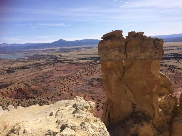 You can see for miles, from Abiquiu Lake to Pedernal, a mesa that O'Keeffe painted often.
