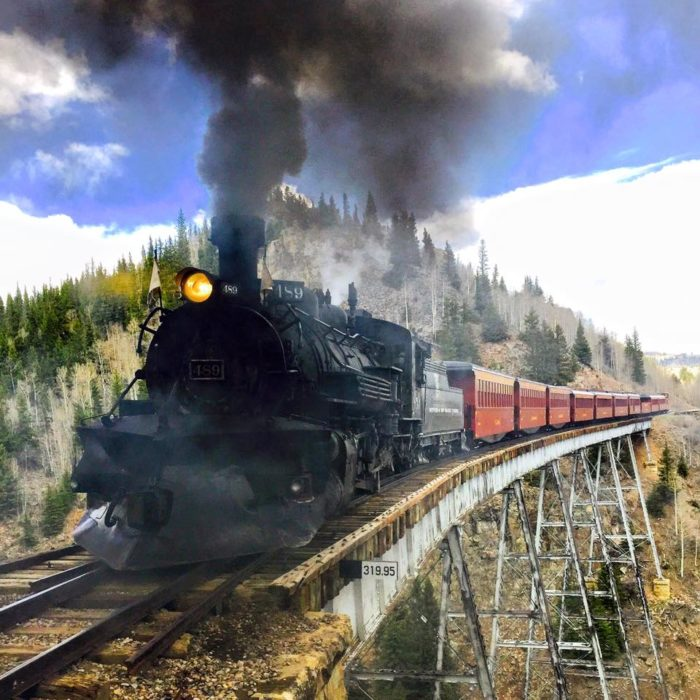 3. This is one of the last steam engines still in operation.