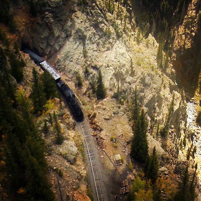 5. The train travels to elevations of over 10,000 feet.