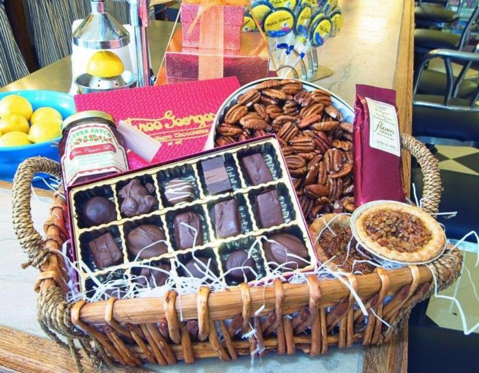 A basket full of treats from Three Georges Candy Shop makes the perfect gift for anyone. They offer a variety of baskets, and if you don't see one you want, they'll customize a basket especially for you.