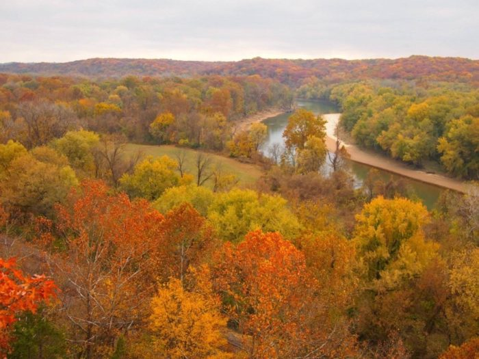 Enjoy panoramic views of the Meramec River below you. Be sure to snap a photo!